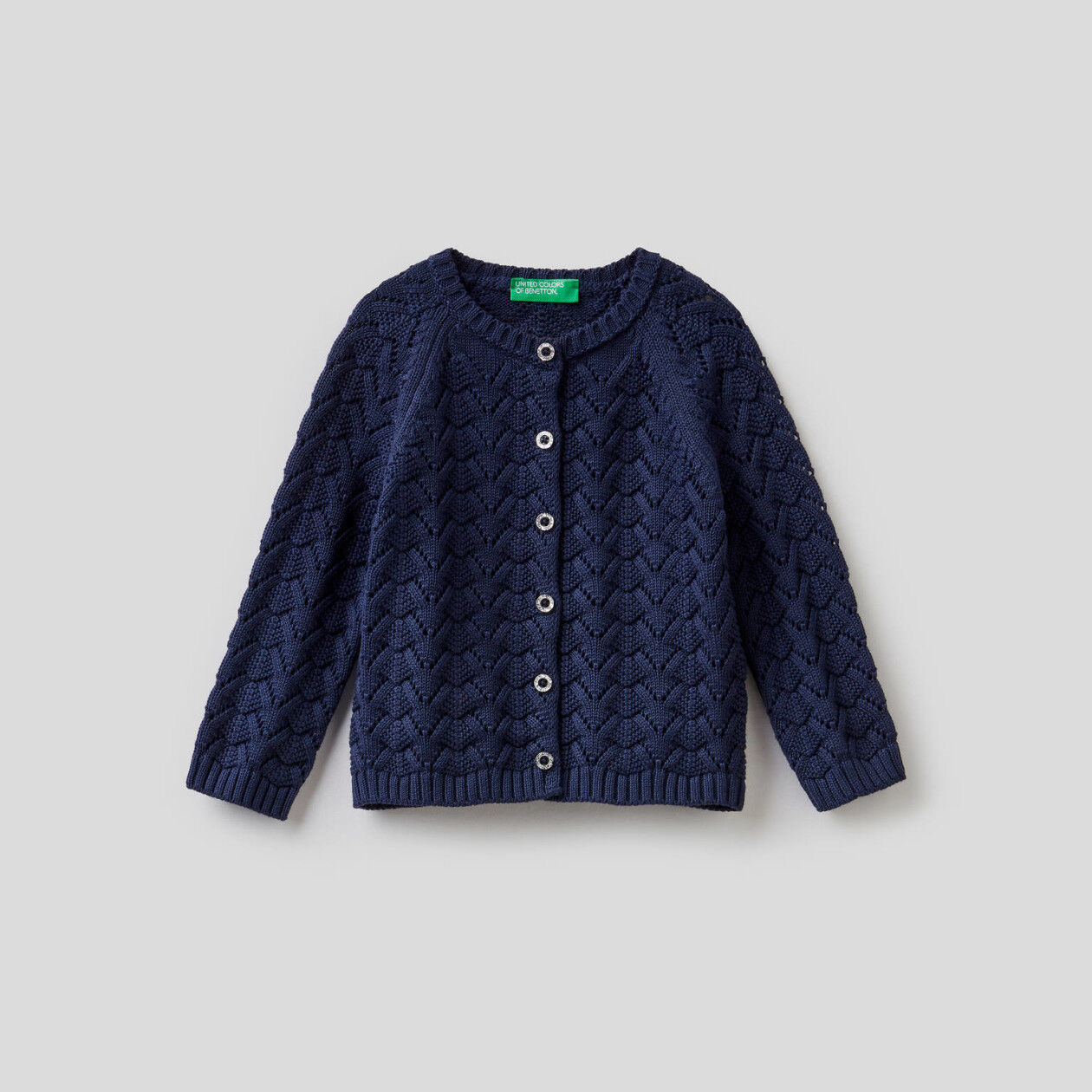 Knit cardigan in pure cotton