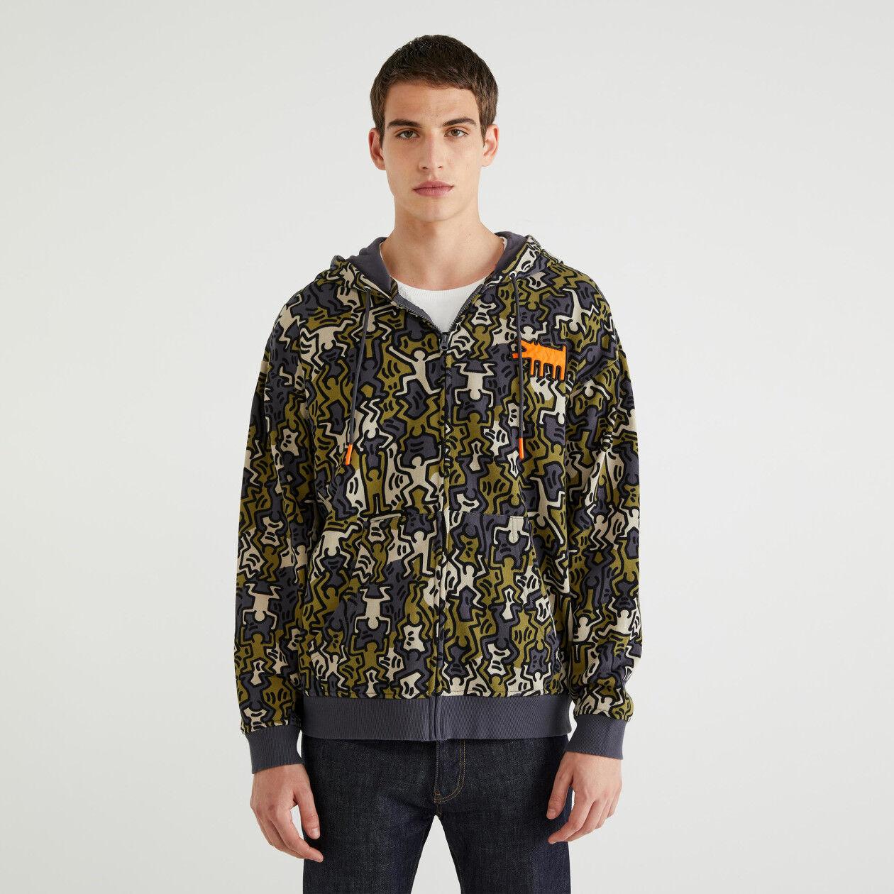 "Sweatshirt with ""Keith Haring"" print"