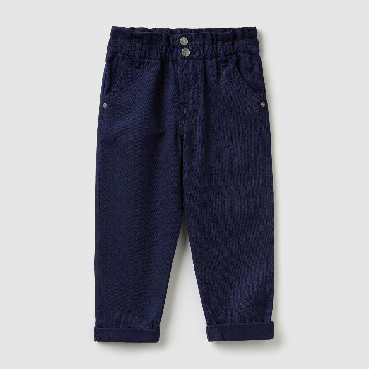 Paperbag trousers in twill