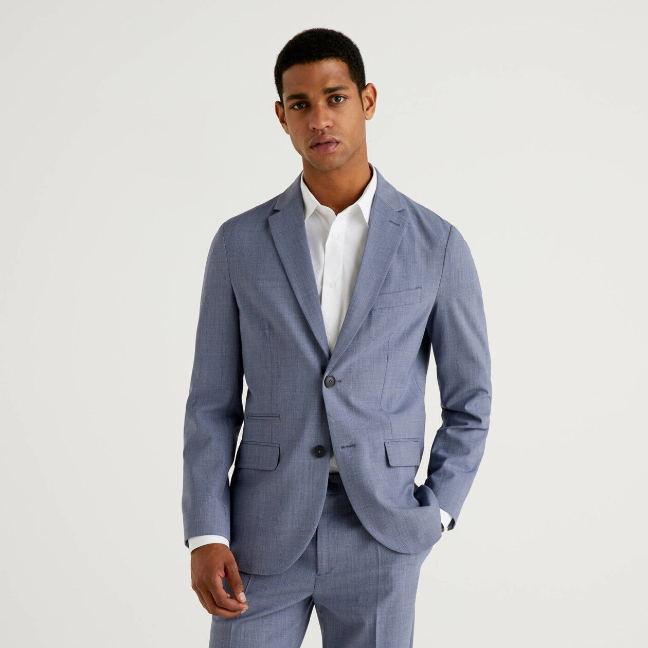 Blazer in fresh stretch wool