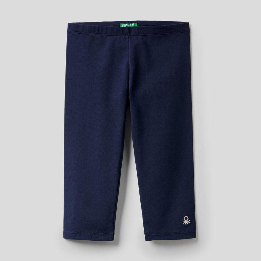 3/4 leggings in stretch cotton