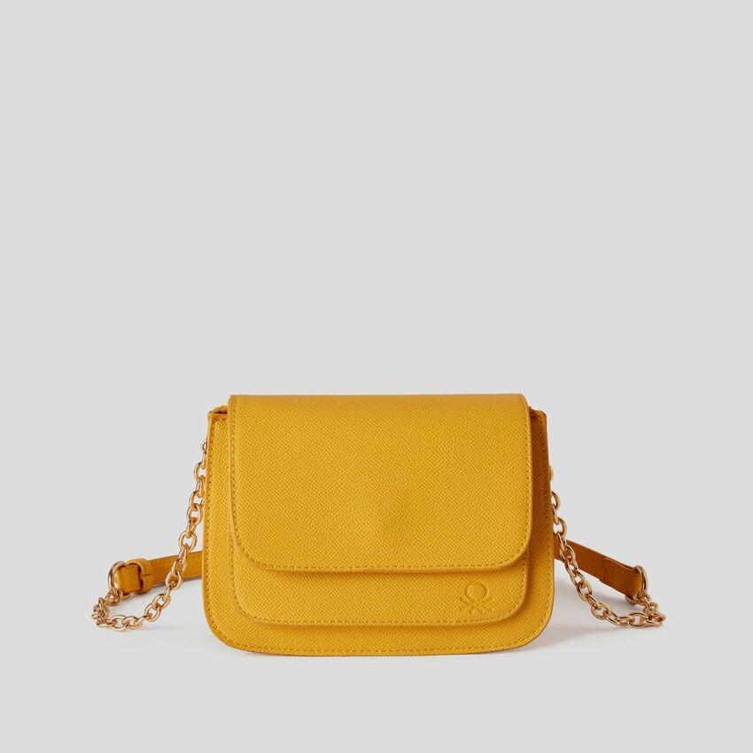 Crossbody bag with flap