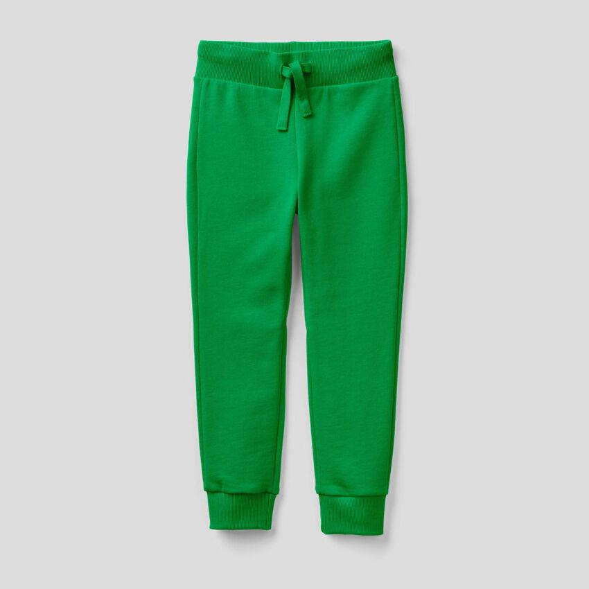 Green sporty sweatpants