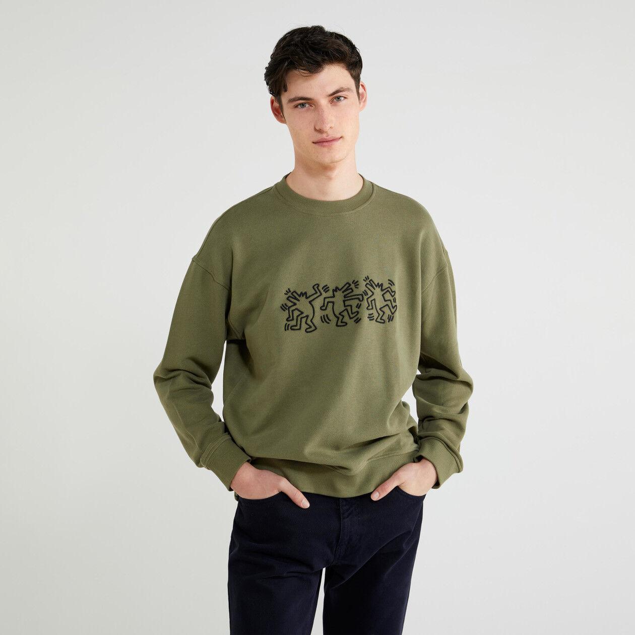 """Keith Haring"" crew neck sweatshirt"