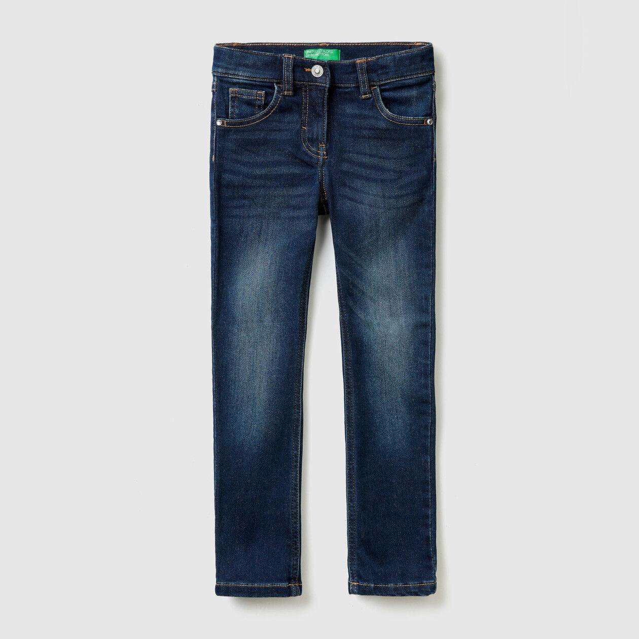 Thermal denim skinny jeans