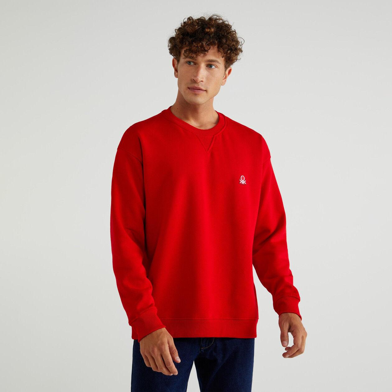 Crew neck sweatshirt with logo