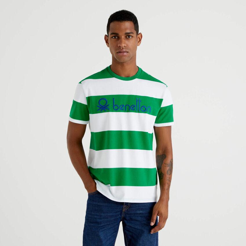 Striped t-shirt in 100% organic cotton