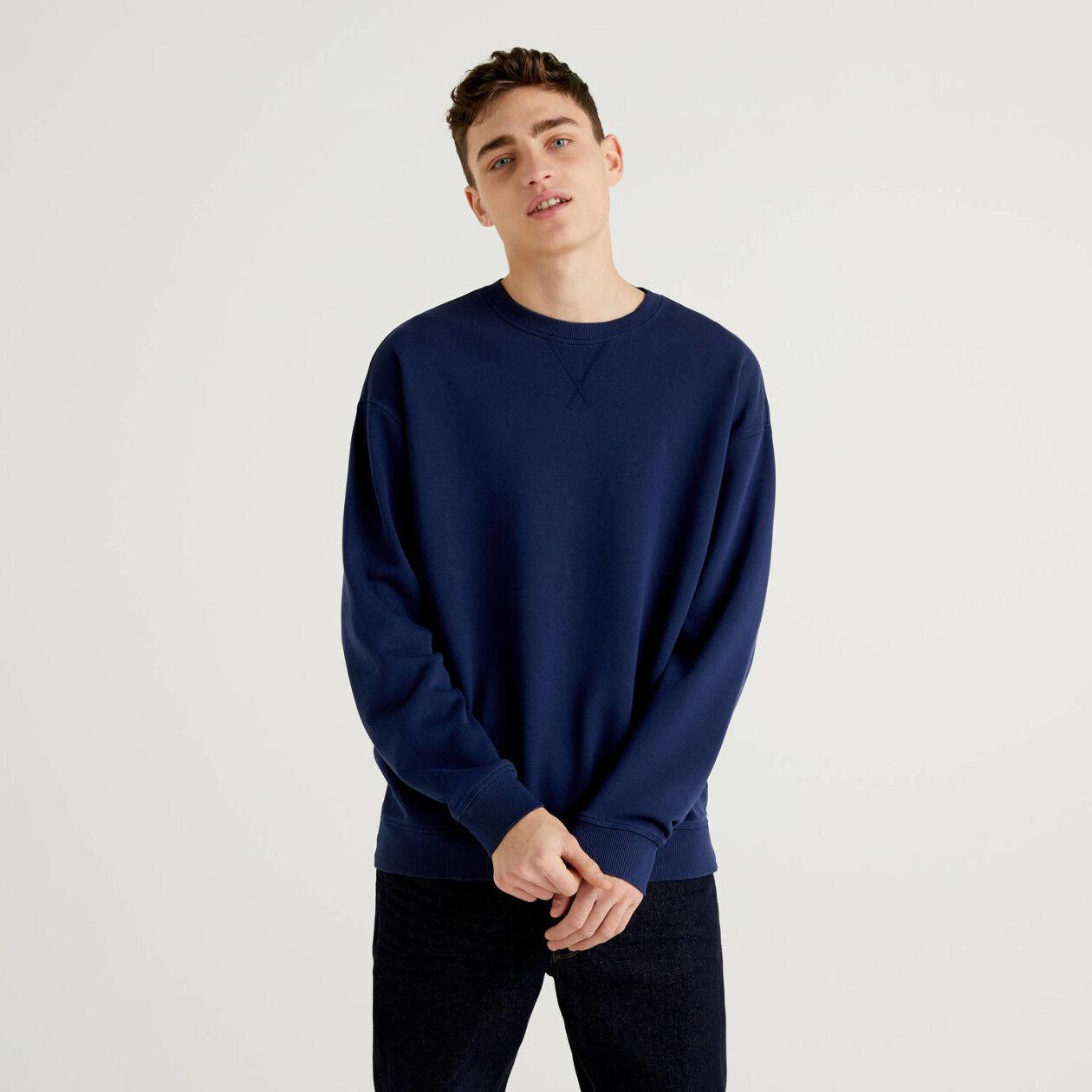 Customizable pure cotton sweatshirt