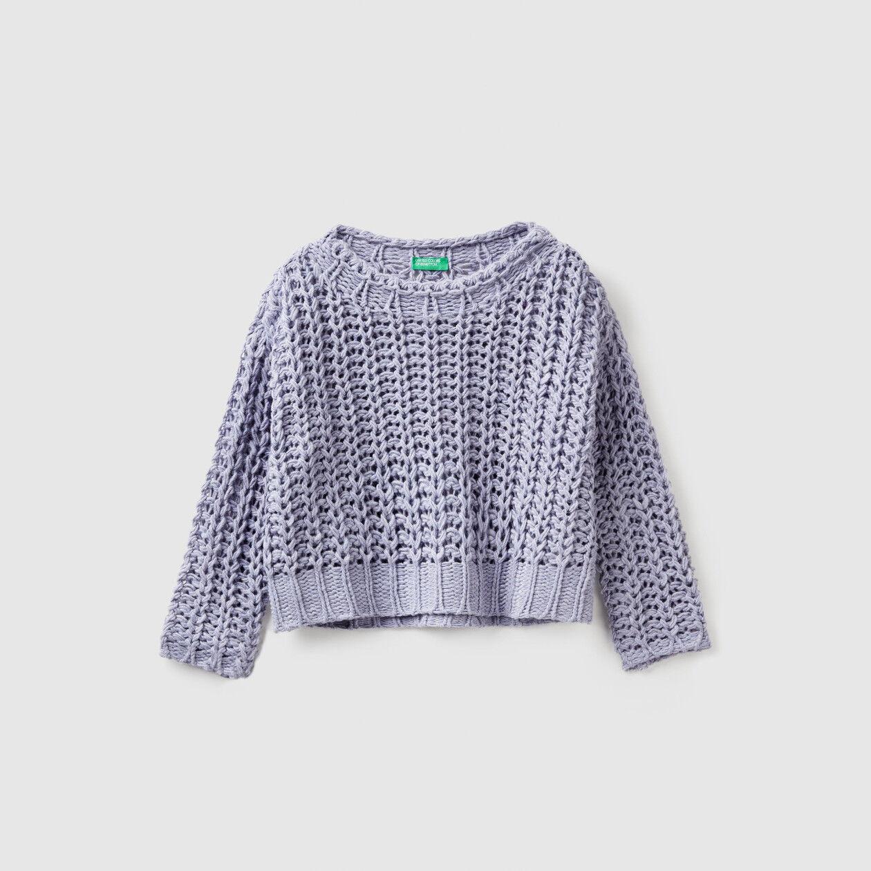 Oversized ribbed sweater