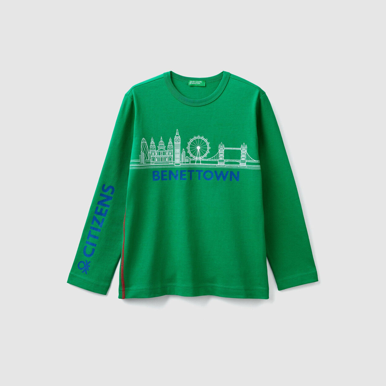 """T-shirt with """"Benetton"""" print"""