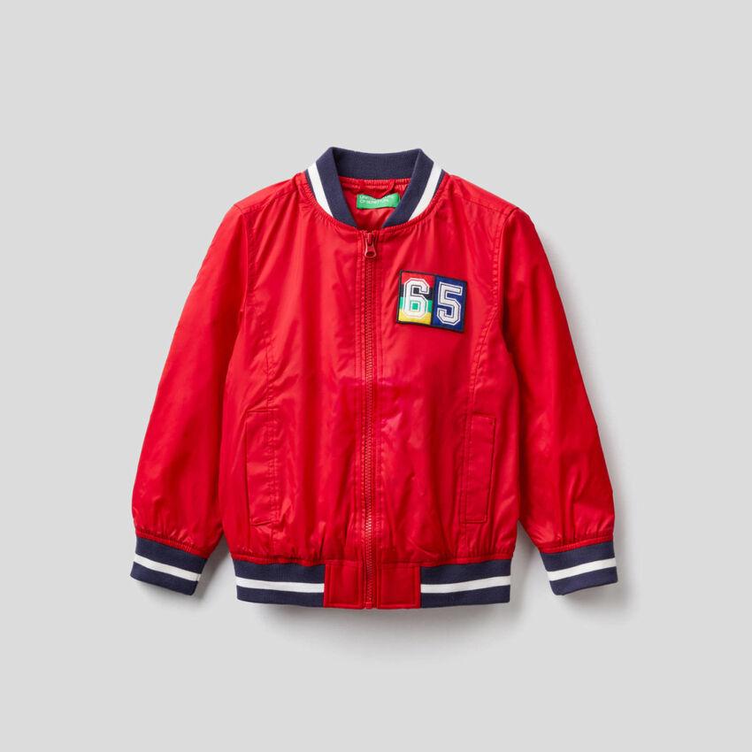 Varsity jacket in technical fabric