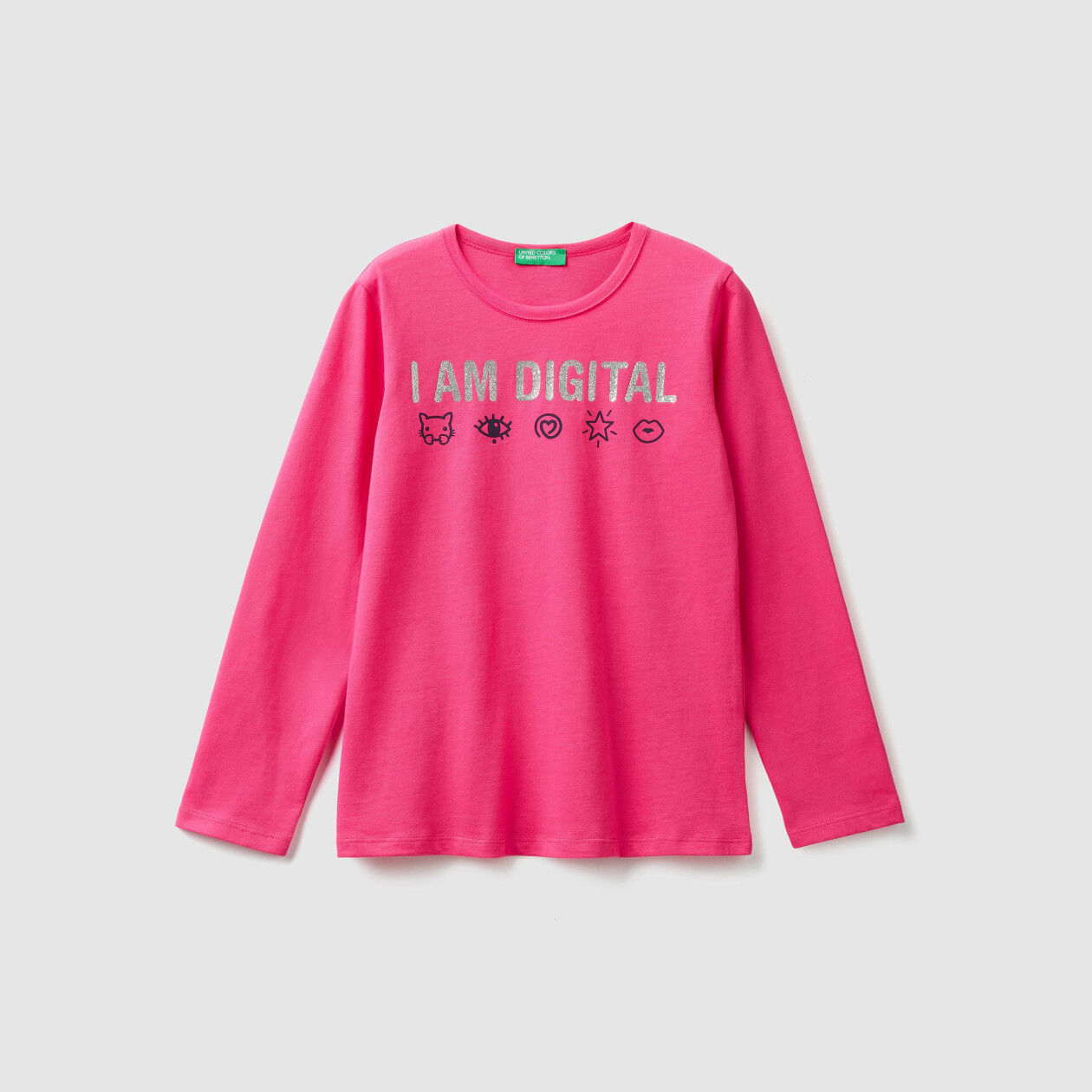 T-shirt with print and glitter