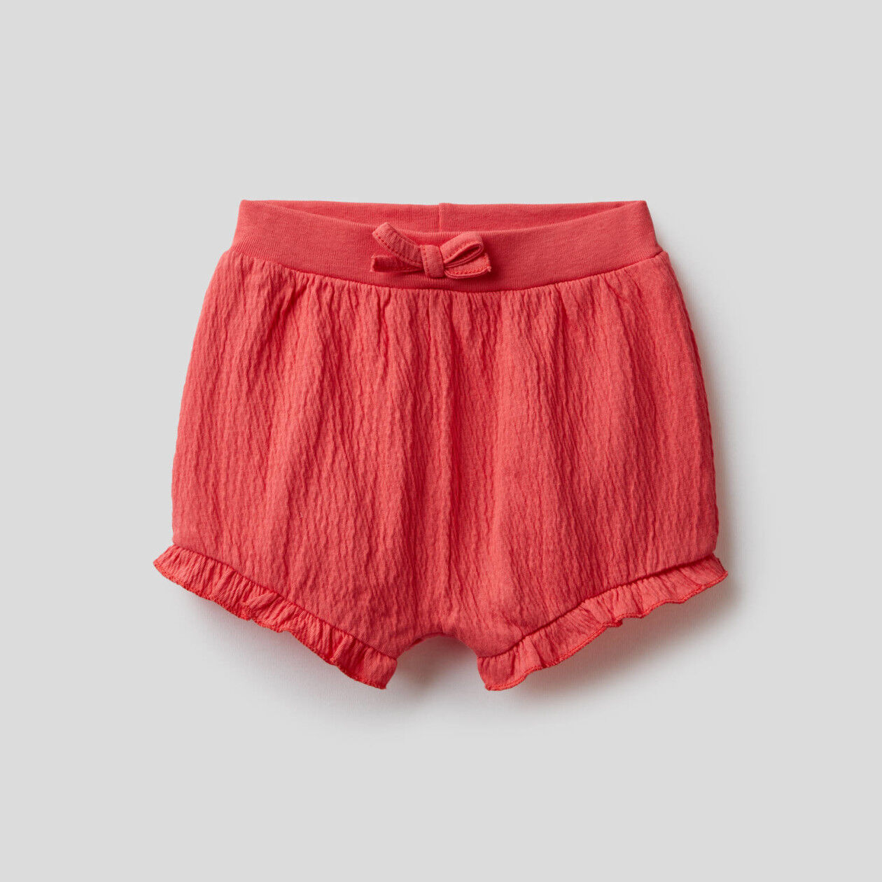 Shorts with trim and embroidery