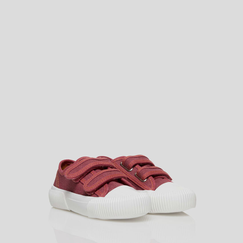 Sneakers with Velcro straps