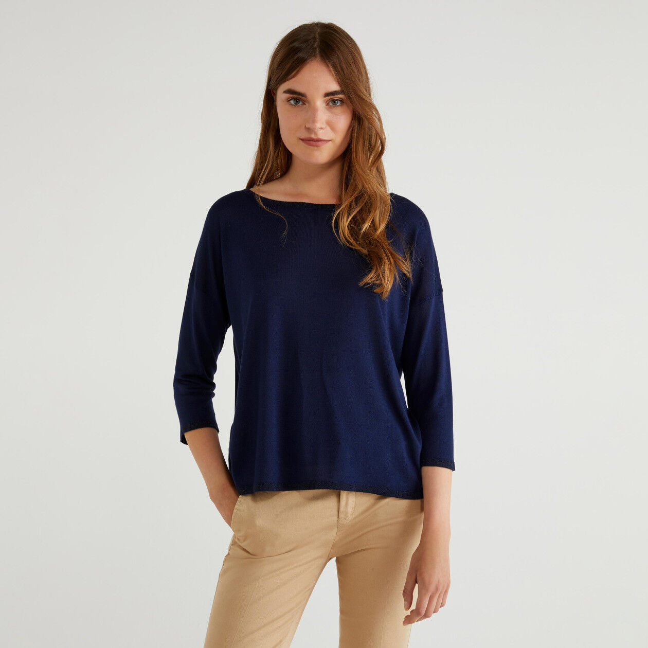 Flowy sweater in silk blend